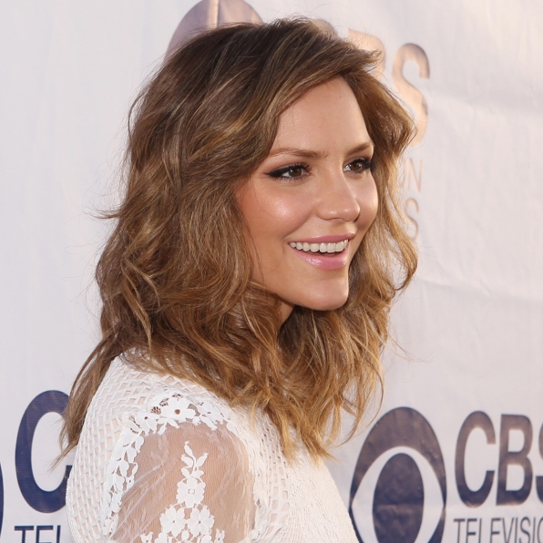 Katharine McPhee on the CBS Summer Soiree Red Carpet