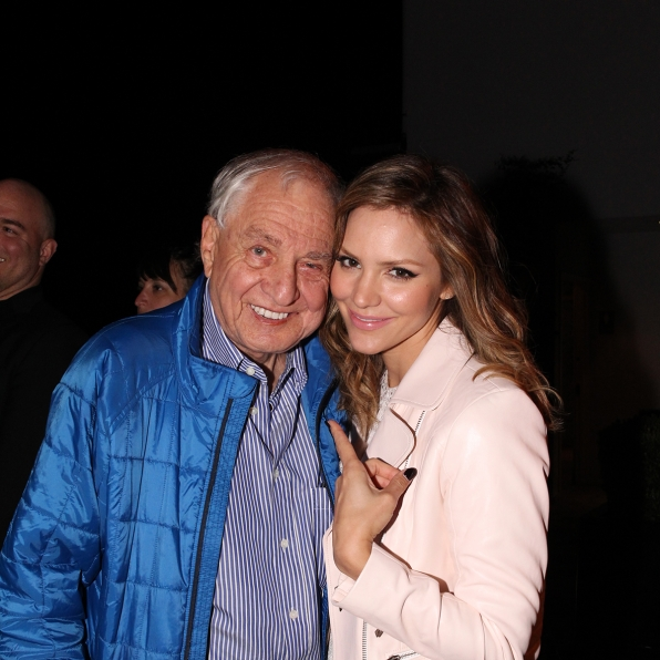 Garry Marshall and Katharine McPhee at the CBS Summer Soiree