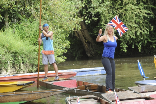 Punting down the river