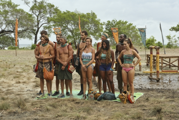 Castaways getting ready for the reward challenge