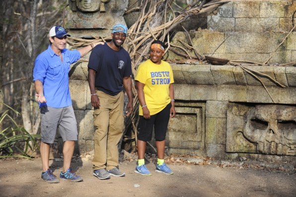 Jeff Probst with Jeremy and Val