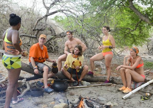 Castaways around camp
