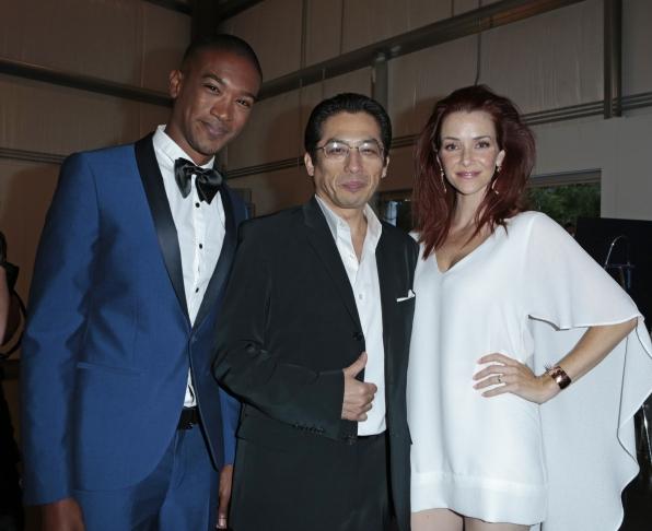 Sergio Harford, Hiroyuki Sanada, and Annie Wersching