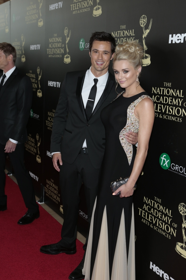 Matthew Atkinson and Hunter King - Daytime Emmy Awards Red Carpet