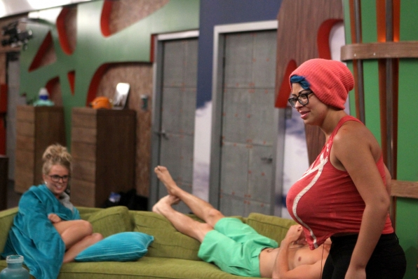 Having fun in the Big Brother house
