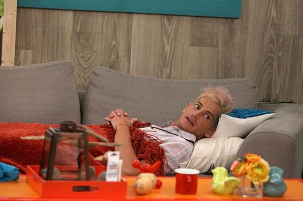 Frankie lounging