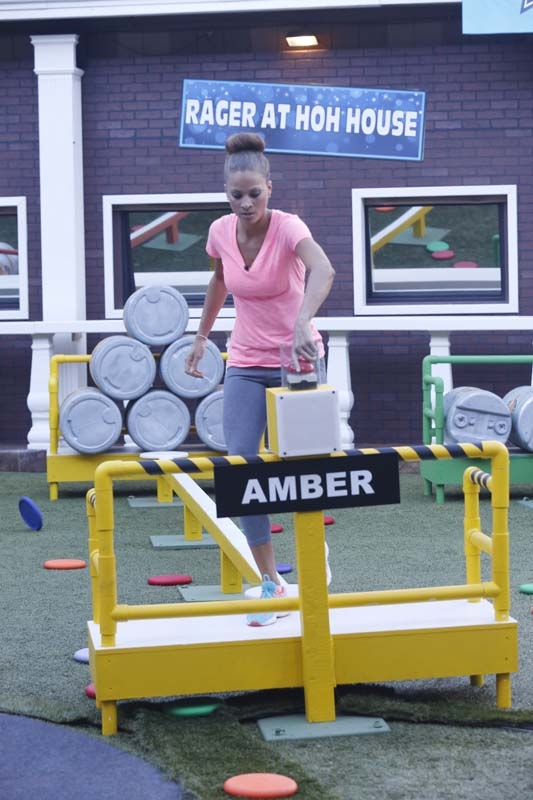 Amber competes