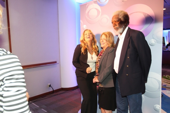 7. Executive Producers Lori McCreary, Barbara Hall and Morgan Freeman know how to laugh.