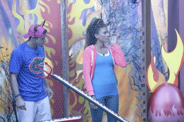 Zach and Amber compete