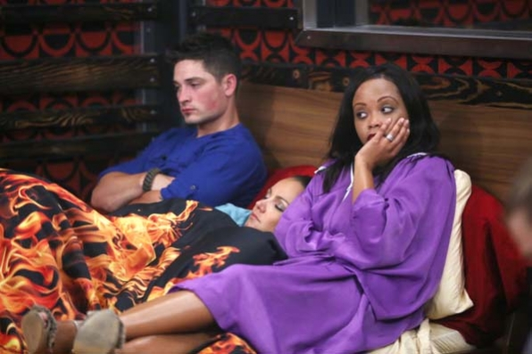 Lounging inside the Big Brother house