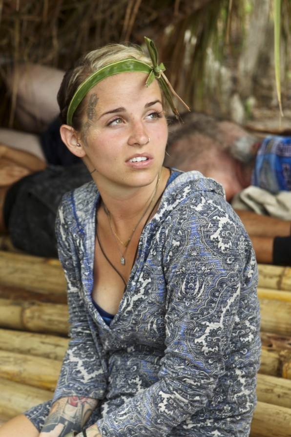 Lindsey before the second challenge