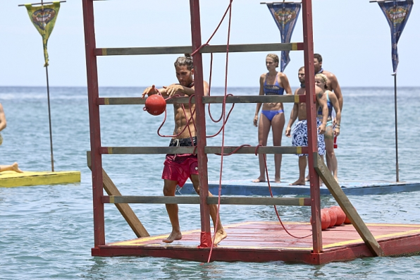 Vince competing for Immunity