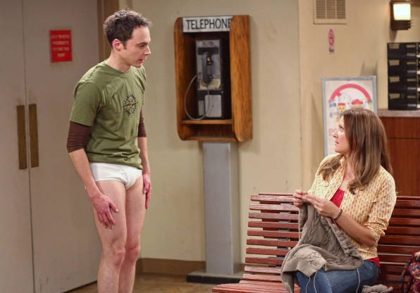 Sheldon in his underwear