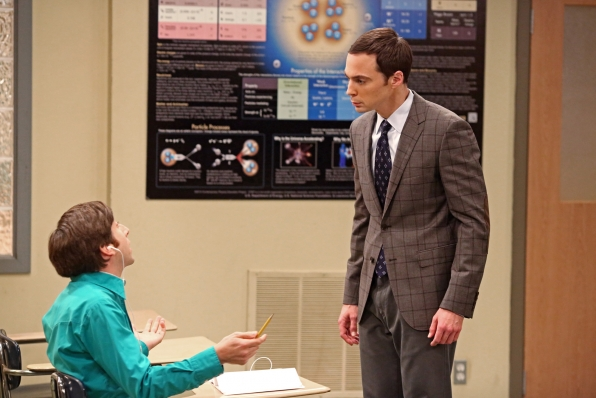 Sheldon teaches a class
