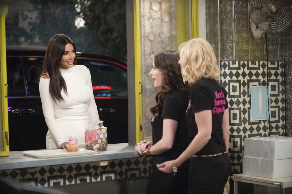 Kim Kardashian on 2 Broke Girls
