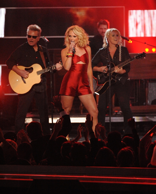 "6. Country Superstar, Miranda Lambert, took the stage by storm with ""Little Red Wagon."""
