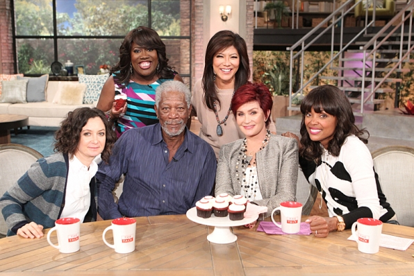 Morgan Freeman stops by to chat with the ladies