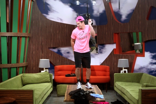 Zach dances on a table