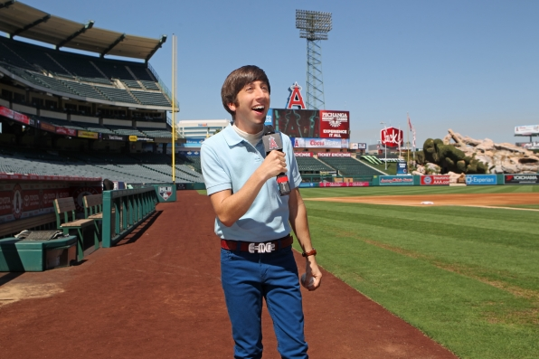 Wolowitz on the mic at Angels Stadium