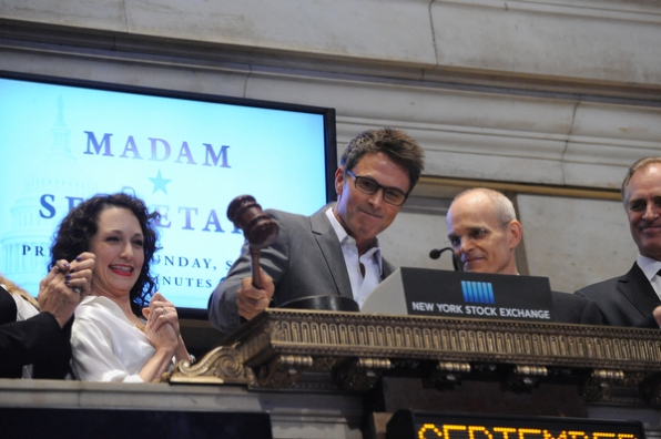 Tim Daly Closing the Day at the New York Stock Exchange