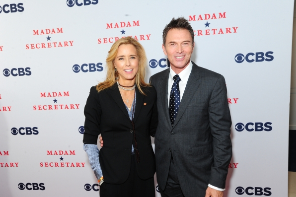 Téa Leoni and Tim Daly at the Madam Secretary Premiere Screening