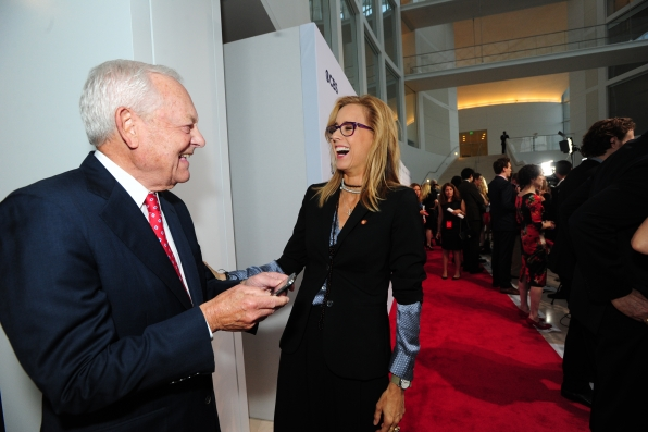 Bob Schieffer and Téa Leoni Having Fun