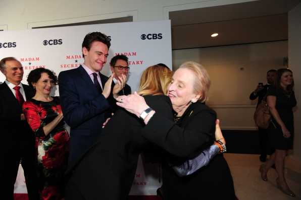 The Cast Greets Former Secretary of State Madeleine Albright
