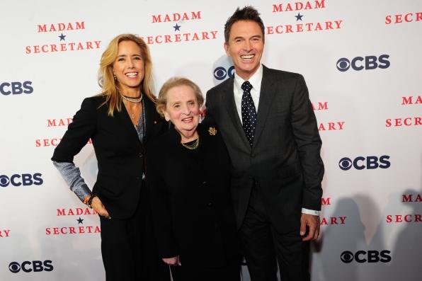 Téa Leoni, Madeleine Albright, Tim Daly