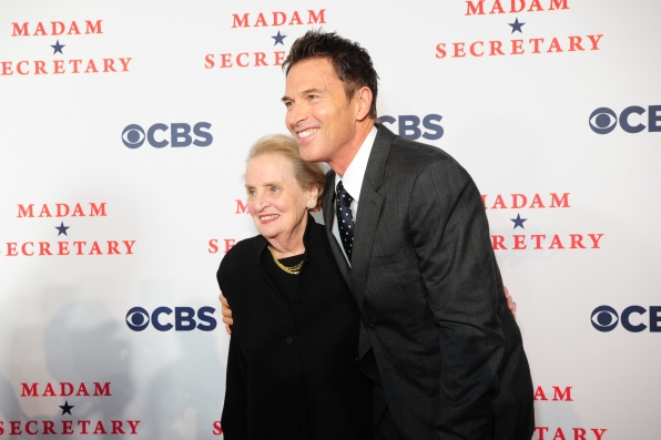 Madeleine Albright and Tim Daly