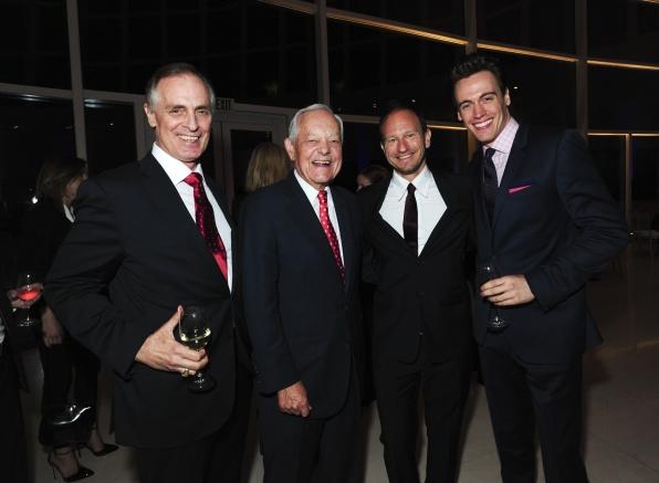 Keith Carradine, Bob Schieffer, Producer Sam Hoffman, Erich Bergen