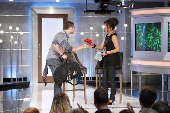 Caleb gives Julie a flower
