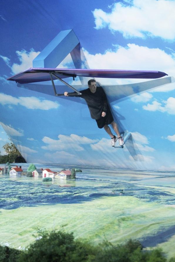 Derrick flies high