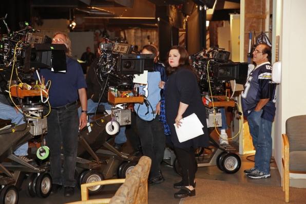 Melissa preps for her scene