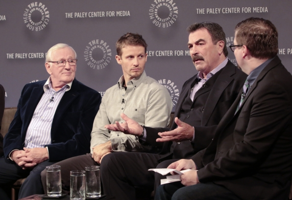 4. When Tom Selleck speaks, everyone is captivated.