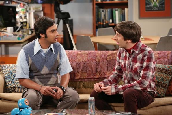 Howard comforts Raj
