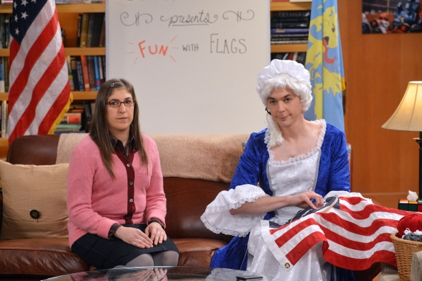 """Amy and Sheldon host """"Fun with Flags"""""""