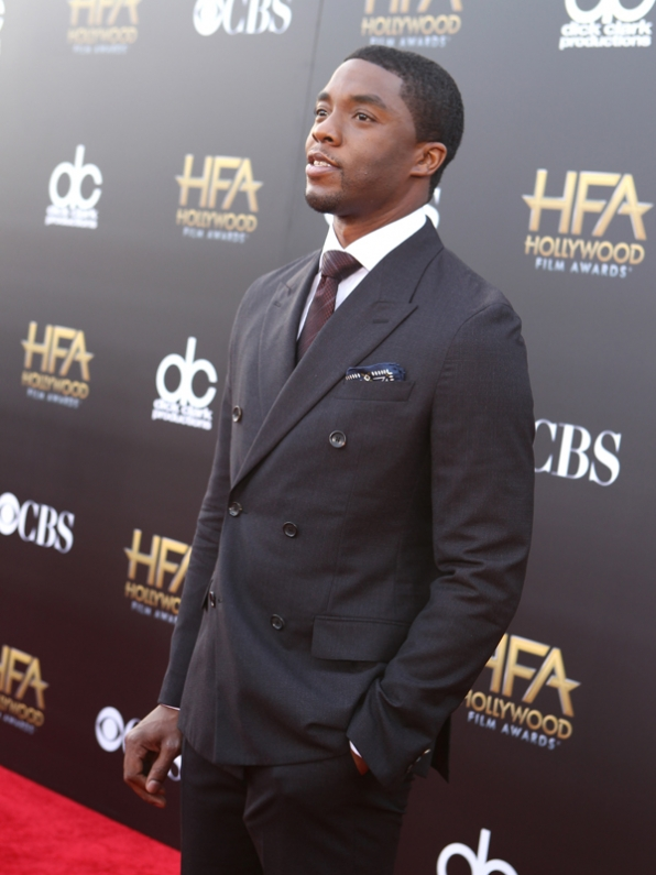 Chad Boseman on the Red Carpet