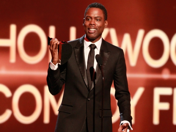 "2. Chris Rock is thankful that he made it through an award show without hearing ""Happy."""