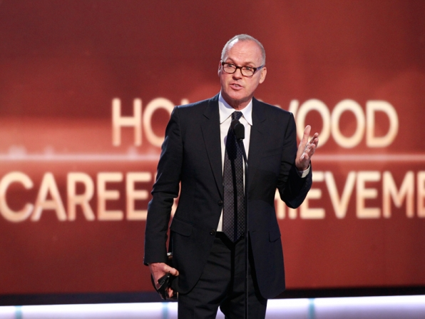 Michael Keaton wins the Career Award