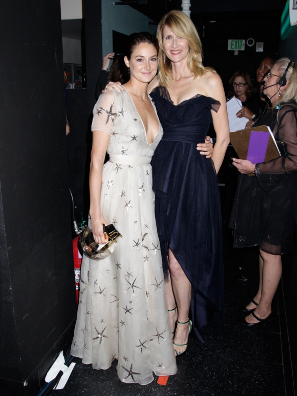 Breakout Actress Winner, Shailene Woodley & Laura Dern backstage