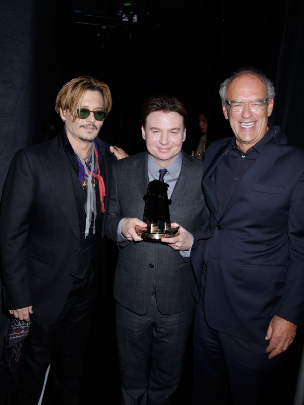 Johnny Depp; Mike Myers; and Shep Gordan