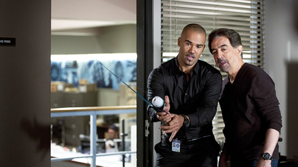 Rossi taught Morgan how to fish. - <em>Criminal Minds</em>