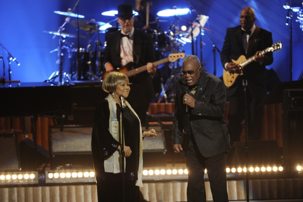 Mavis Staples and Sam Moore at the 37th Annual Kennedy Center Honors