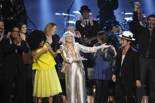Herbie Hancock, Esperanza Spalding, Lady Gaga, and Bruno Mars