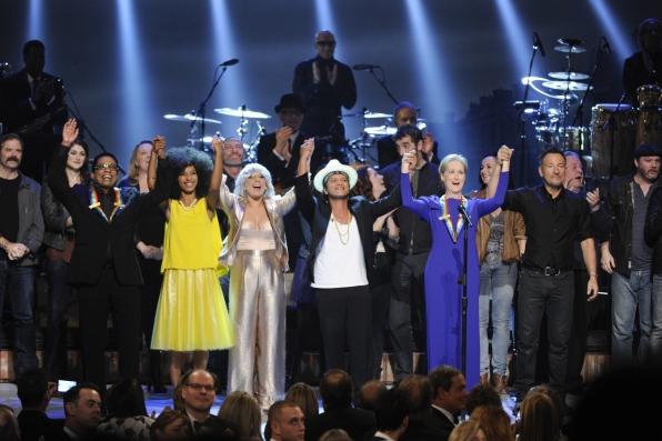 Herbie Hancock, Esperanza Spalding, Lady Gaga, Bruno Mars, Meryl Streep, and Bruce Springsteen