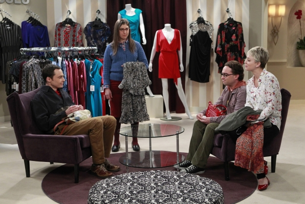 Sheldon goes shopping with Amy.