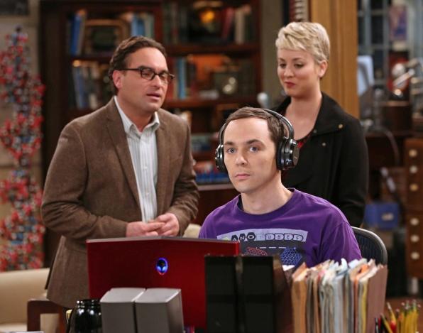 Testing out Sheldon's headphones