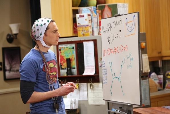 Sheldon works hard