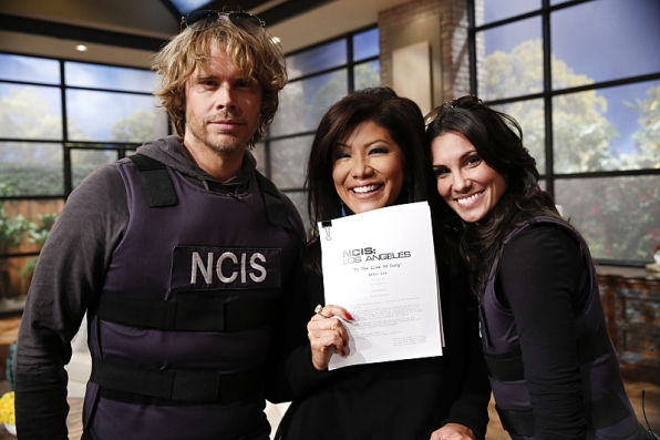Daniela Ruah and Eric Christian Olsen vist THE TALK