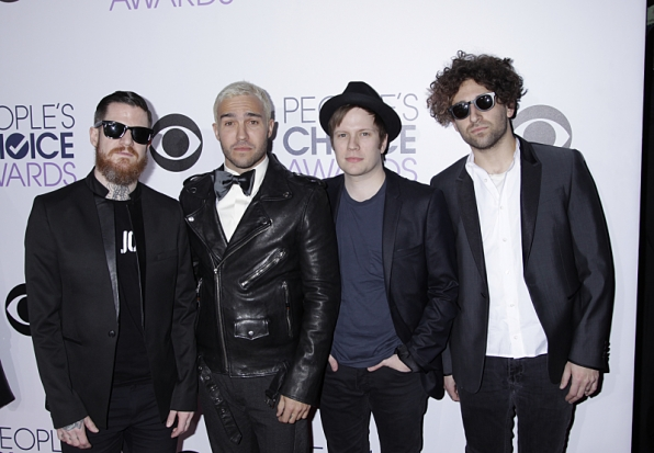 5. Fall Out Boy hung out backstage.